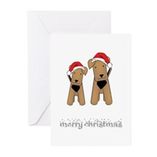 Funny Airedale terrier Greeting Cards (Pk of 10)