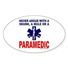 PARAMEDIC/EMT Oval Sticker (10 pk)