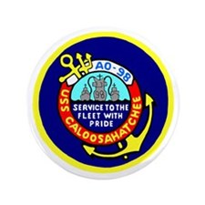 "USS Caloosahatchee (AO 98) 3.5"" Button (100 pack)"