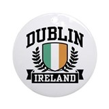 Dublin Ireland Ornament (Round)