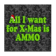 Christmas Ammo Tile Coaster