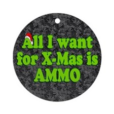 Christmas Ammo Ornament (Round)