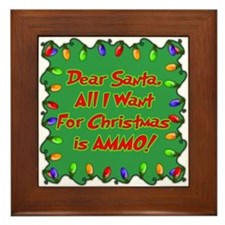 Santa Christmas Ammo Framed Tile