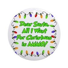 Santa Christmas Ammo Ornament (Round)