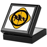 Cute Border patrol Keepsake Box