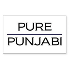 Pure Punjabi Rectangle Decal