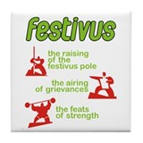 festivus! Tile Coaster