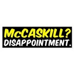 Claire McCaskill Disappointing Bumper Sticker