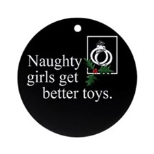 Naughty Girls 2 Ornament (Round)