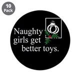 "Naughty Girls 2 3.5"" Button (10 pack)"