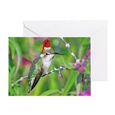 Ho Ho Ho Hummingbird II Greeting Card