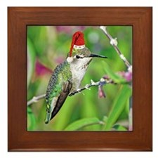 Ho Ho Ho Hummingbird II Framed Tile