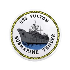 "USS Fulton (AS 11) 3.5"" Button"