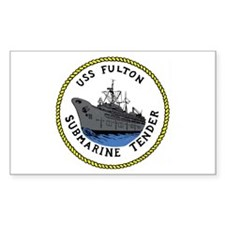 USS Fulton (AS 11) Rectangle Sticker 50 pk)