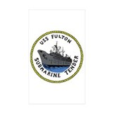 USS Fulton (AS 11) Rectangle Sticker 10 pk)