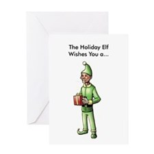 Gross Holiday Elf Card (Single Card)