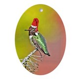 Ho Ho Ho Hummingbird III Oval Ornament