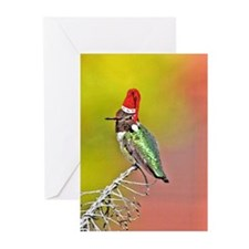 Ho Ho Ho Hummingbird III Greeting Cards (Pk of 10)