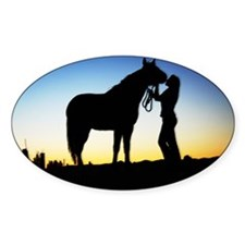 Cowgirl Sunset Decal