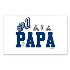 #1 Papa Rectangle Decal