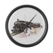 Traveling Chins Large Wall Clock