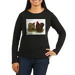 Cochin Pair Women's Long Sleeve Dark T-Shirt