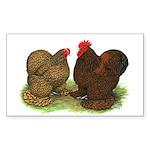 Cochin Pair Rectangle Sticker 50 pk)