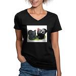 Cochin Couple Women's V-Neck Dark T-Shirt
