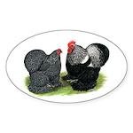 Cochin Couple Oval Sticker
