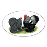 Cochin Couple Oval Sticker (50 pk)