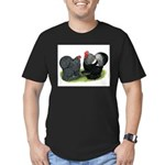 Cochin Couple Men's Fitted T-Shirt (dark)