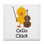 Cello Chick Tile Coaster