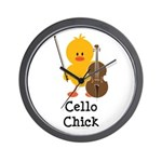 Cello Chick Wall Clock