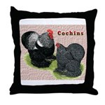 Cochin Rooster & Hen Throw Pillow
