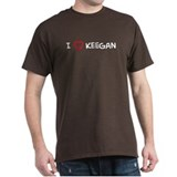 I Love Keegan Black T-Shirt