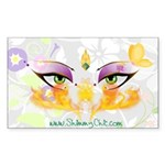 Belly Dance Shimmy Chic Sticker (Rectangle 50 pk)