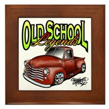 Old School Legends '53 Chevy Pickup Framed Tile