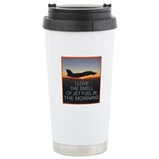 SMELL OF JET FUEL Ceramic Travel Mug
