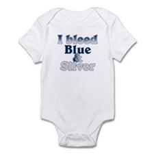I Bleed Blue and Silver Infant Bodysuit