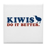 Kiwis Do it Better Tile Coaster