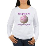 Wipe Your Balls Women's Long Sleeve T-Shirt