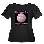 Wipe Your Balls Women's Plus Size Scoop Neck Dark