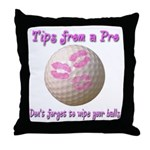 Wipe Your Balls Throw Pillow