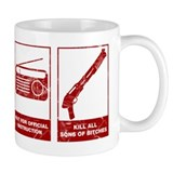 In Case Of Zombie Apocalypse Small Mugs