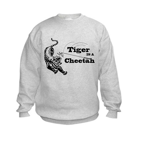 Tiger Is A Cheetah Kids Sweatshirt
