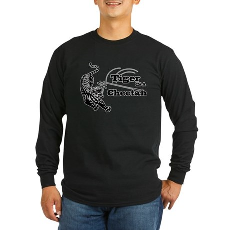 Tiger Is A Cheetah Long Sleeve Dark T-Shirt