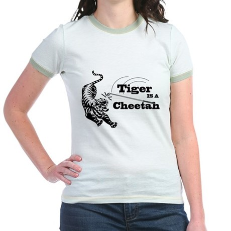 Tiger Is A Cheetah Jr. Ringer T-Shirt