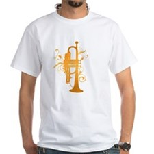 Swirl Trumpet White T-Shirt