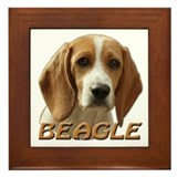 Beagle Pup Framed Tile