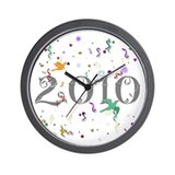 2010 New Year's Wall Clock
